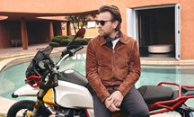 Ewan McGregor on a bike